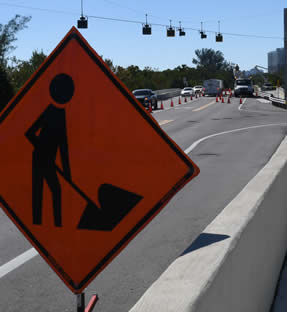 Caution Road Work Ahead